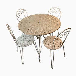 Vintage Wrought Iron Garden Furniture Set