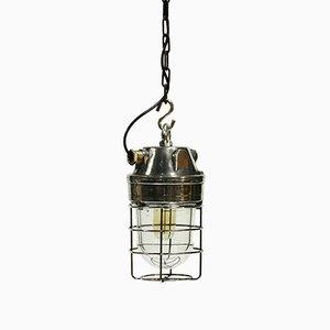 Lámpara colgante industrial italiana vintage
