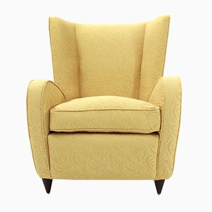 Mid-Century Italian Yellow Armchair by Paolo Buffa, 1950s