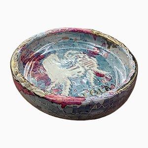 Mehrfarbige sardinische Keramikschale von Claudio Pulli für Isola, 1970er