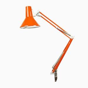 Orangefarbene dänische Modell 85 Schreibtischlampe von HCF, 1960er
