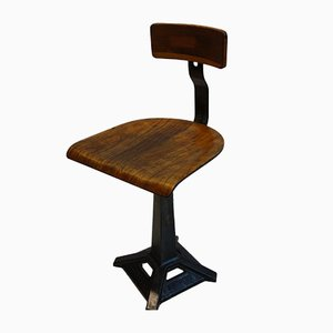 Industrial Machinist Stool from Singer, 1930s