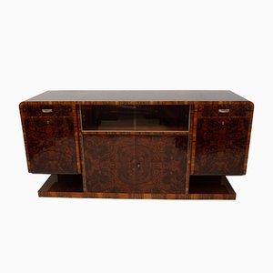 Bohemian Art Deco Walnut Veneer Sideboard, 1930s