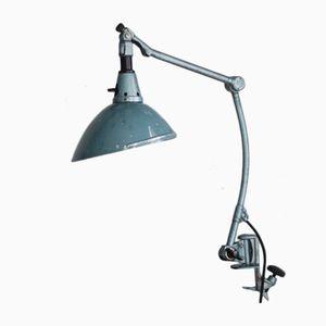 Lámpara de pinza modelo 126 en azul de Curt Fischer para Midgard, años 30