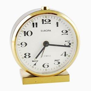 Reloj despertador mecánico alemán pequeño de Europa, años 60