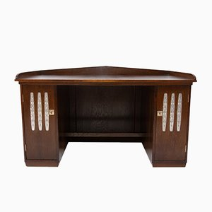 Antique Viennese Secession Oak Writing Desk