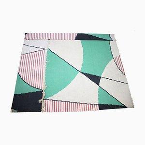 Tappeto grande vintage geometrico, anni '60