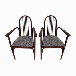 Antike Holzstühle von Josef Hoffmann für Jacob & Josef Kohn, 1910er, 2er Set