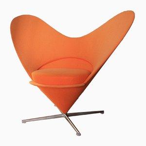 Sedia Heart Cone arancione di Verner Panton per Vitra, anni '90