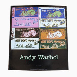 Andy Warhol Exposition Poster from Galerie Isy Brachot, 1990
