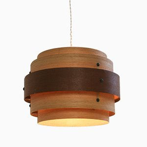 Wood Veneer Ceiling Lamp, 1940s