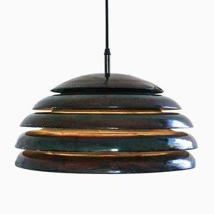Lámpara de techo de aluminio en negro perlado, años 60