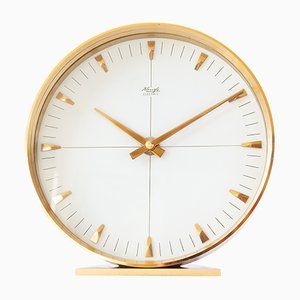 Modernistic Brass Table Clock from Kienzle, 1960s