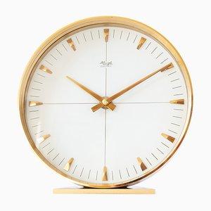 Reloj de mesa moderno de latón de Kienzle, años 60
