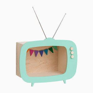 Teevee TV Shelf in Mint Green from Up! Warsaw