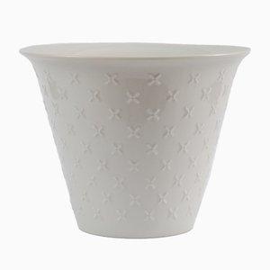 Maceta de porcelana blanca de Hutschenreuther, años 60