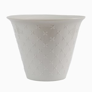 White Porcelain Flower Pot from Hutschenreuther, 1960s