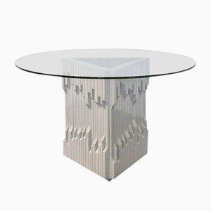 Norman Tisch aus massivem lackierten Holz von Luciano Frigerio, 1970er