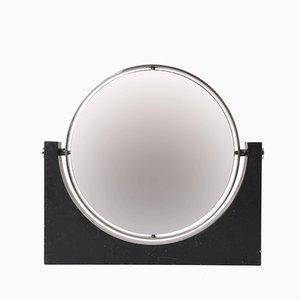Specchio double face in marmo e acciaio di Angelo Mangiarotti, anni '60
