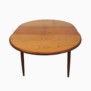 Mesa de comedor extensible de teca de G-Plan, años 70
