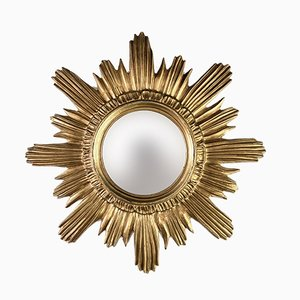 Specchio in plastica dorata, Italia, anni '70