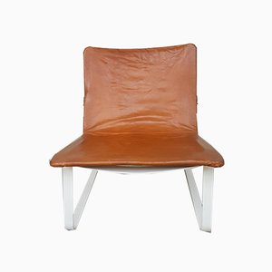 Danish Steel & Leather Safari Sling Chair, 1980s