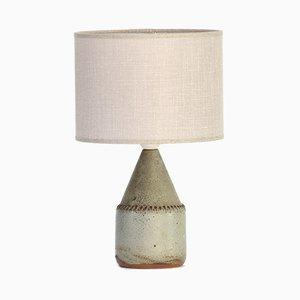 Tischlampe mit Sockel aus Steingut von Rolf Palm, 1960er