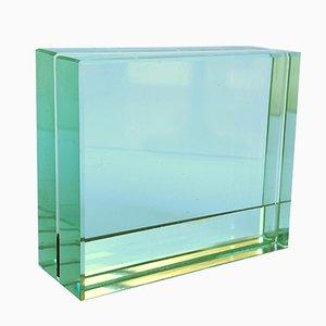 Doppelseitiger Glasrahmen mit Spiegel von Fontana Arte, 1980er