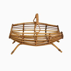Bamboo and Rattan Magazine Rack by Franco Albini for Bonacina, 1960s