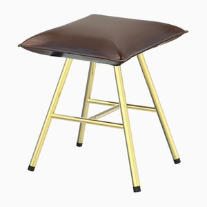 Square Soft Iron Stool by Damiano Costagli for Brass Brothers