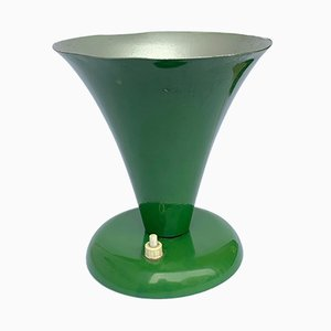 Conical Green-Lacquered Table Lamp from Stilnovo, 1950s