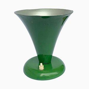 Konische grün lackierte Tischlampe von Stilnovo, 1950er