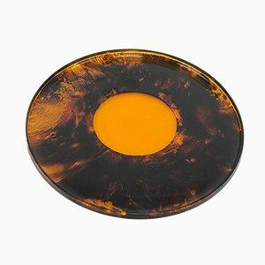 Drehbares Tablett aus Tortoise Plexiglas von IPI, 1980er