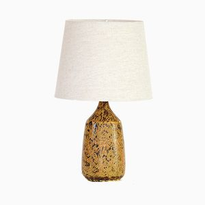 Table Lamp with Stoneware Base by Gunnar Borg for Gunnars Keramik, 1960s