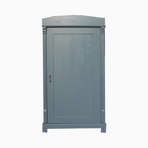 Antique Grey-Painted Softwood Cabinet