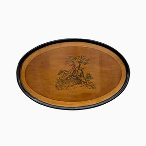 Large English Ebonized Tray, 1930s