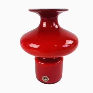 Rote Carnaby Vase von Per Lütken für Holmegaard, 1960er
