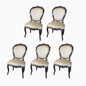 Antique Dining Chairs, Set of 5
