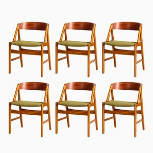 A-Line Esszimmerstühle von Henning Kjaernulf für Boltinge Stolefabrik, 1960er, 6er Set