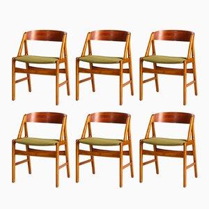 Chaises de Salon A-Line par Henning Kjaernulf pour Boltinge Stolefabrik, 1960s, Set de 6
