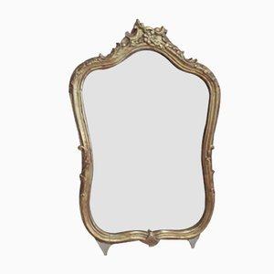 Antiker Louis XV Spiegel aus Holz, 1800er