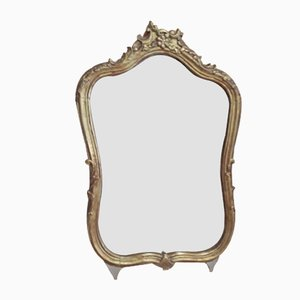 Antique Louis XV Wooden Mirror, 1800s