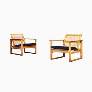 Sessel von Børge Mogensen für Fredericia, 1960er, 2er Set