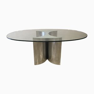 Elliptischer französischer Tisch, 1970er