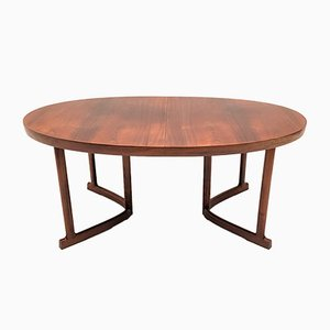 Rosewood Extendable Dining Table by Johannes Andersen for Hans Bech, 1960s