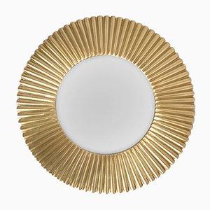 Specchio Sunburst in alluminio dorato, anni '70