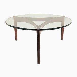 Brazilian Rosewood Model 104 Coffee Table by Sven Ellekær for Christian Linneberg, 1960s
