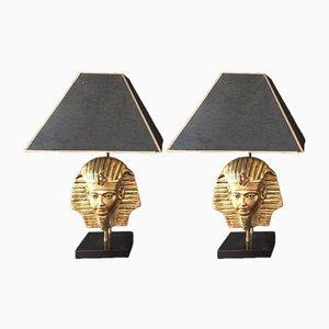 Pharaoh Tischlampen, 1970er, 2er Set