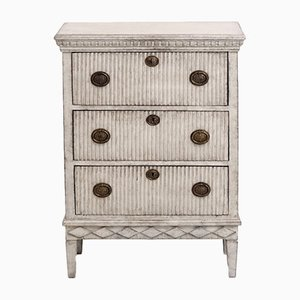 Antique Carved Gustavian Style Chest of Drawers