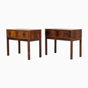 Bedside Tables from Glas & Trä, 1960s, Set of 2